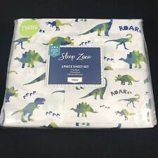 Dinosaur Sheet Set - Twin Size - Blue & Green Camo Style - Roar - Dinos NEW