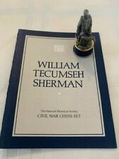 Franklin Mint Civil War Chess Union Bishop William Sherman With Info Booklet