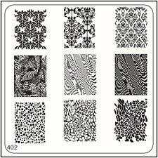 Moyou Nail Moda Stamping Nail Art imagen Placa 402 Estilo Vintage, partículas