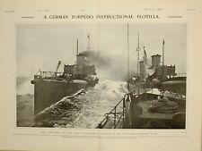 1903 Imprimé Allemand Torpedo Pédagogique Flotilla Américain Escadron Pour Kiel