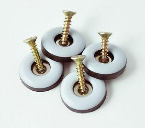 Teflongleiter Stuhlgleiter Möbelgleiter PTFE-Gleiter rund mit Schrauben, Ø 22 mm