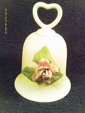 "[M12] 4"" Ceramic Bell Pink Flower"