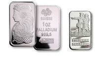 1 OUNCE PALLADIUM BAR .999 1oz. (RANDOM MAKER)