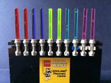 x10 NEW LEGO STAR WARS MINIFIG LIGHT SABER LOT 5 different trans colors