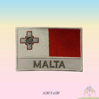 Malta National Flag With Name Embroidered Iron On Patch Sew On Badge Applique