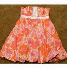 Lilly Pulitzer REGENCY Hen House Strapless Bubble Dress Lace Size 0