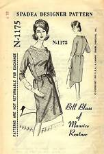 "Vintage 1960s Spadea Pattern Womens DRESS N-1175 by Bill Blass Sz 12 B35"" UNUSED"