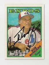 1988 TOPPS BOB BUCK RODGERS  AUTO AUTOGRAPH CARD #504 SIGNED IN PERSON EXPOS