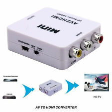 US Stock1080P Mini Composite AV CVBS 3AV 3RCA To HDMI Converter Adapter New