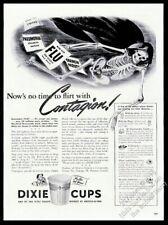 1942 death skeleton in shroud art Dixie Cups vintage print ad