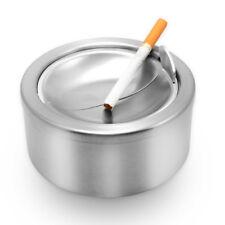 Stainless Steel Ashtray, Round Cigarette Ashtray / Lid Cover Cigarette Holder