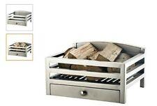 Fire basket / grate / wood burner - Barford - Pewter - contemporary - brand new