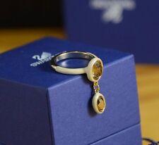 SWAROVSKI crystal S Laser Ring size 52 yellow lime Size 6 RARE