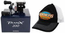 Shimano Tranx 200 Trx-200A 6.2:1 Right Hand Baitcast Reel + Hat
