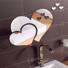 Espejo Corazón etiqueta de pared Pegatinas vinilos Arte Mural Decoración