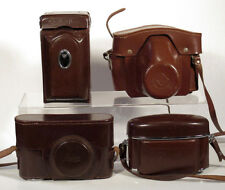 Vintage Lot 11 Leather Camera Cases LEICA AGFA ZEISS KW ROLLEIFLEX RETINA N/R!