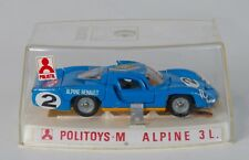 Polistil Politoys M 598 Alpine 3L. Blue. Sealed with Decal sheet. Original 1970