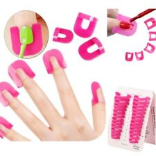 26Pcs Curve Shape Spill-proof Finger Covers Nail Polish Varnish Protector Holder