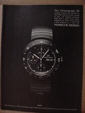 1985 Porsche Design Chronograph 02 Wrist Watch Vintage Print Ad 155