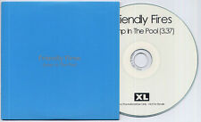 FRIENDLY FIRES Jump In The Pool 2009 UK 1-track promo test CD + press release