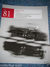 BROOKS AUCTION CATALOGUE 1998 SALE 81 MERCEDES BENZ MUSEUM STUTTGART 290 250SE