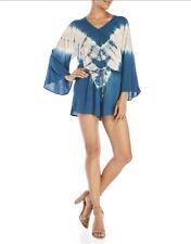 SURF GYPSY Tie-Dye Romper Blue and Tan