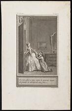 1784 - Gravure Histoire de Clarisse, Marillier : Il s'est offert à moy comme...