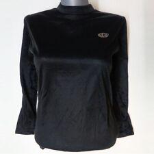 EDZ 1//4 Zip Black Ladies Motorcycle Mid Layer Black Microfleece Top Discontinued
