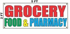 Grocery Food & Pharmacy Banner Sign 2x5 Store Shop