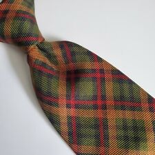 A18) BROOKS BROTHERS PLAIDS AND CHECKS 100% SILK NECKTIE MADE IN USA