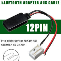 12Pin bluetooth Adapter Aux Cable For P eugeot 207 307 407 308 + Install Tool
