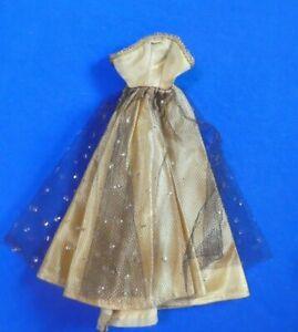 Vintage Barbie Doll Clothes - Vintage Barbie Gold Satin Gown