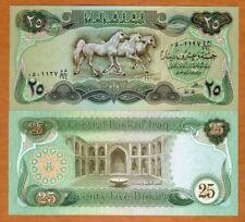 Iraq, 25 Dinars, 1982, P-72, UNC > Arabian Horses, Abbasid Palace