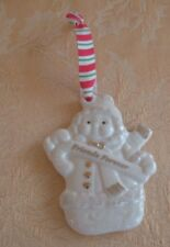 Vintage Porcelain Christmas Snow Girl Ornament ~ Freinds Forever