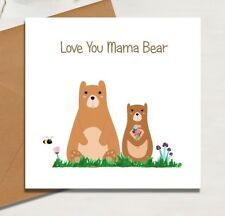 Birthday Card Mama Bear Card Mothers Day Birthday Mammy Mam