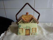 More details for vintage retro keele street pottery cottage ware biscuit barrel storage