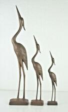 3 Mid Century Reiher Deko-Objekte, 60er Jahre, massiver Kunststoff, Kraniche
