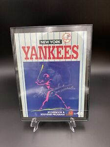 Reggie Jackson Signed Yankees Program W/ COA