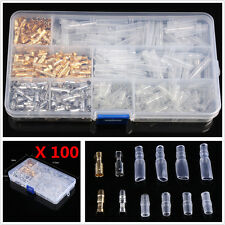 100 Sets 3.9mm Bullet Connectors Male&Female Wire Terminals W/Insulation Covers