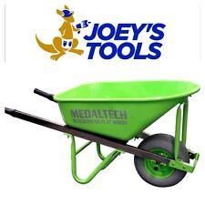 100L Extra Heavy Duty Tub Builders Wheelbarrow 150mm No Flat Tyre Wheel Barrow