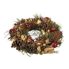 pinecone christmas wreath wled small - Small Christmas Wreaths
