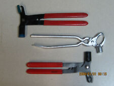 Tire Repair Tools Wheel Weight Plier 3 Pieces Seconds Some Rust