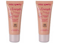 2 x Miss Sporty So Energetic Natural Radiance foundation Inst' Skin Glow MEDIUM