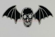 Avenged Sevenfold Death Skull Bat Rock Embroidery iron on / sew on patch {439}