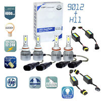 GP THUNDER Combo 9012 LED Headlights + H11 Fog Light Bulbs Decoders No-Error