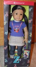American Girl Doll Z Yang And Book New In Box 18 Inch Doll