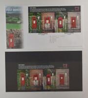 2009 ROYAL MAIL PRESENTATION FOLDER POST BOXES & FDC LOT 397