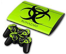 PS3 PlayStation 3 Super Slim Skin Design Foils Aufkleber Schutzfolie - Biohazard