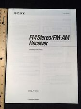Sony STR-D1011 Stereo Receiver Original Owners Manual 42 Pages strd1011 A16
