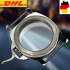 Für ETA 6497 6498 ST36 ST3600 Uhrwerk Movement 44mm Edelstahl Watch Case Shell #